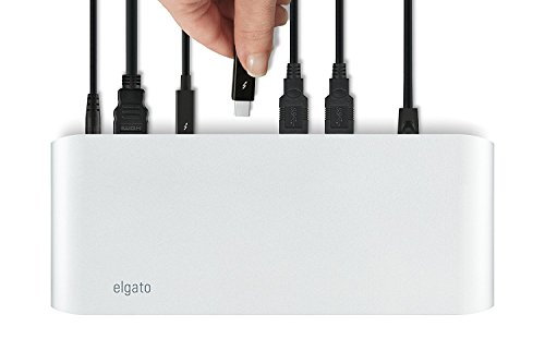 Elgato Thunderbolt 2 Dock with 50 cm Thunderbolt cable, 20Gb/s, 4K support, 2x Thunderbolt 2, 3x USB 3.0, audio input and output, Gigabit Ethernet, aluminum chassis (Certified Refurbished) by Elgato (Image #7)