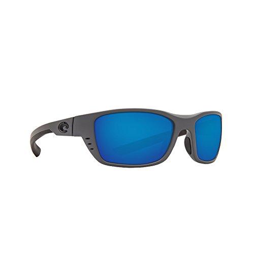 Costa Del Mar Whitetip 580G Whitetip, Matte Gray Blue Mirror, Blue - Clear Costa Frames Sunglasses