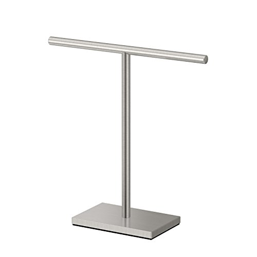 Gatco 1444SN Modern Rectangle Base T-Shape Hand Towel Holder, Satin Nickel ()