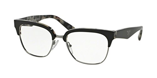 Prada Eyeglasses PR30RV ROK1O1 Top Black/White Havana 54 18 - Black And White Sunglasses Prada
