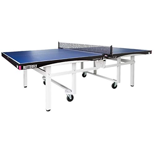 Butterfly Centrefold 25 Table Tennis Table   Professional Ping Pong Table   25mm Indoor Folding Ping Pong Table   Strong Frame   Professional Ping Pong Net Included   5 Year Warranty