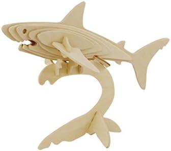 Hands Craft JP229 DIY 3D Wooden Puzzles (Shark)