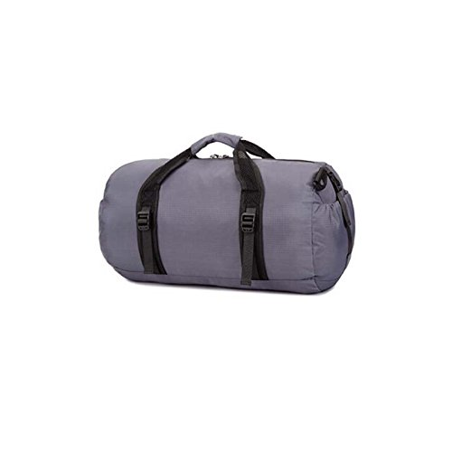 Multi Functional Sports Gym Bag-Foldable Travel Duffel Gym Bags for Man Women (Grey) by Raysell