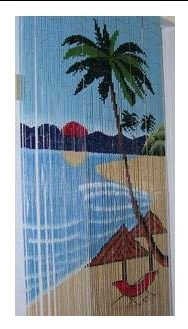 Beach and Palm Tree Beaded Curtain