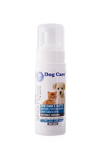 200 ml Dog Care Shampoo Espuma seco sin enjuague con Iris y talco para perros y gatos: Amazon.es: Productos para mascotas
