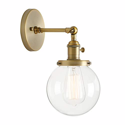 - Permo Vintage Industrial Wall Sconce Lighting Fixture with Mini 5.9