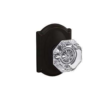 Schlage Custom FC172 ALX 619 RWD Alexandria Non-Turning Glass Knob