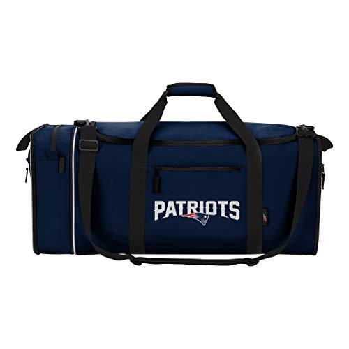 - NFL New England Patriots NFL Steal Duffel, Navy, Measures 28