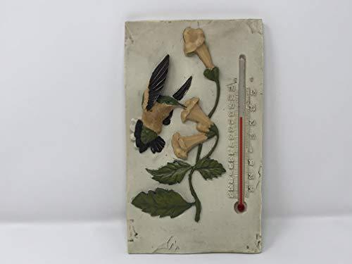 - Encore Stone Garden Hen -Feathers Thermometer- Hummingbird