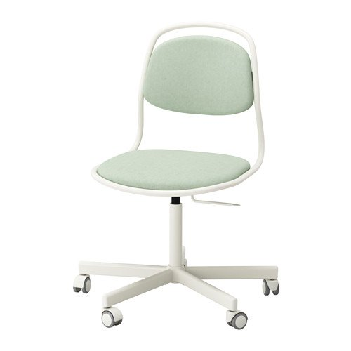 IKEA ÖRFJÄLL/SPORREN Swivel Chair, White, Vissle Light Green 191.623.75