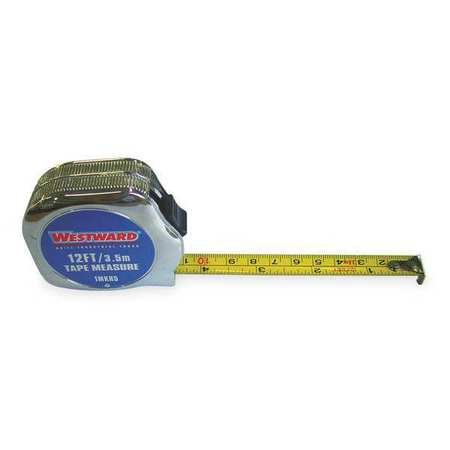 ring Tape, 12 Ft, In/Mm, Chrome (Closed Metal Case Tape Measures)