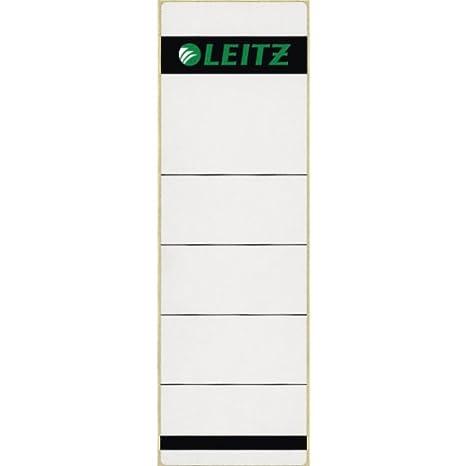 Leitz 16420085 - Juego de 10 etiquetas (para archivador con lomo de 80 mm de