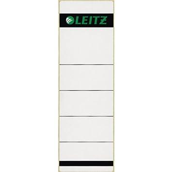 Leitz 16420085 - Juego de 10 etiquetas (para archivador con lomo de 80 mm de ancho, 61,5 x 192 mm): Amazon.es: Oficina y papelería