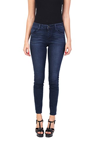 7148d4b739b60 Cello Jeans Women Middle Rise Basic Ankle Skinny Jeans 5 Dark Denim