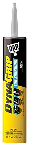 DAP 27521 10.3 Oz Clear DynaGrip Tub Surround Construction Adhesive (Best Adhesive For Tub Surround)