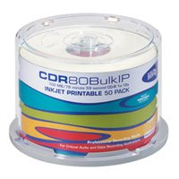 HHB CDR-80 Inkjet Printable Recordable Compact Disc - 50 Disc Spindle by HHB