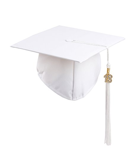 graduation cap white - 5
