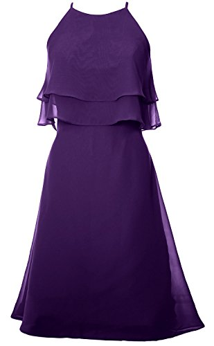 Tiered Bridesmaid Violett Halter Chiffon Cocktail Gown Dress Prom MACloth Short Dress aFqdxwaCp