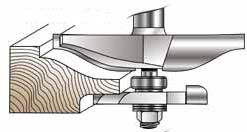 (MLCS Raised Panel Router Bit with Undercutter: Ogee Profile )