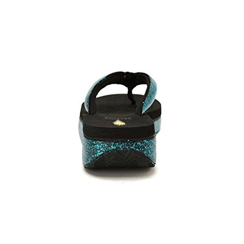 Cómodas de Tamaño Femeninas Verano de Antideslizantes Zapatillas Plataforma Transpirables Elegantes 36 YawzdY