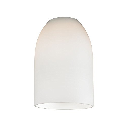 White Dome Glass Shade - Lipless with 1-5/8-Inch Fitter Opening (Replacement Glass Shades For Pendant Lights)