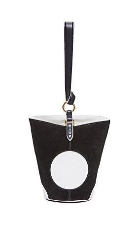 Diane von Furstenberg Women's Mini Steamer Bag, Black/Ivory, One Size