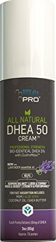 DHEA - All Natural Bioidentical 50mg Dhea Cream - Two Month Supply - Dehydroepiandrosterone + Organic Fenugreek, Tribulus Terrestris, Maca Root & Hgw (Lavender)