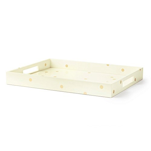 Kate Spade New York Women's Dots Large Tray, Gold Dots, One Size