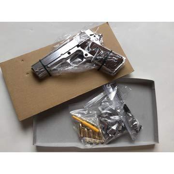マルシン モデルガン 組立キット コンバットコマンダー ニューPFCブローバック シルバーABS ブラックグリップVer B06X9XYQ7D