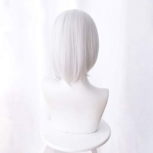 Cosplay Wigs, Anime Cosplay Rose Wigs with Bangs 100% High Temperature Sexy Lady Full Wig Natural Color Heat Resistant Cheap For Party Wigs Daily Dress High Density XISAY