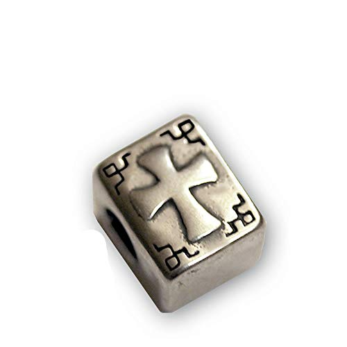 Sexy Sparkles Stainless Steel Holy Bible Cross Book Religious Charm Spacer Bead for Jewelry Making Bracelet Necklace DIY Crafts