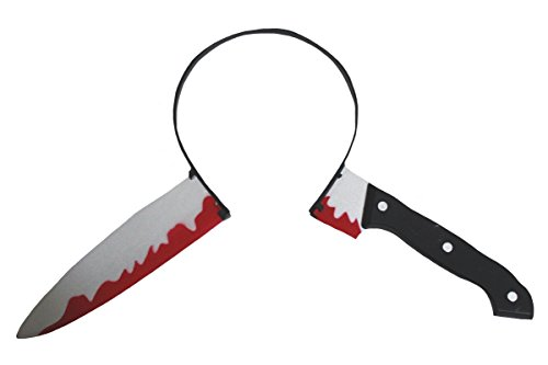 Petitebella Halloween Costume Accessory Bloody Knife Headband for Children Adult (One Size)