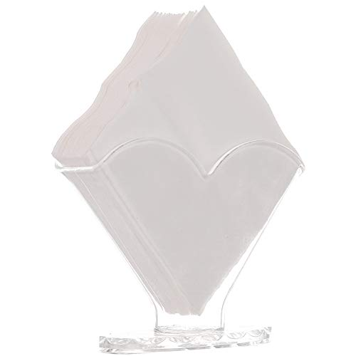 - Sooyee Deluxe Clear Acrylic Decorative Square Cocktail Napkin Holder Stand Desktop,Modern Kitchen Napkin Rack