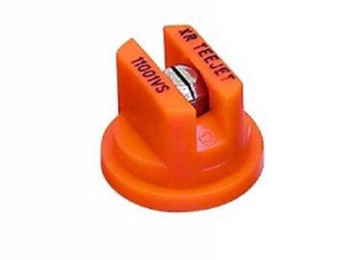 TeeJet XR11001VS Extended Range Spray Tip, 0.061-0.12 GPM, 15-40 psi, Stainless Steel - Orange ()