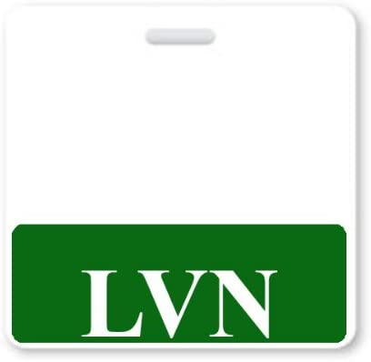 LVN Horizontal Nurse ID Badge Buddy with Green Border by Specialist ID Sold Individually