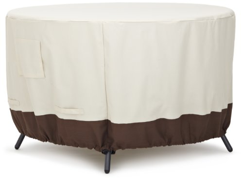 (AmazonBasics Round Dining Table Outdoor Patio Furniture Cover, 48 Inch)