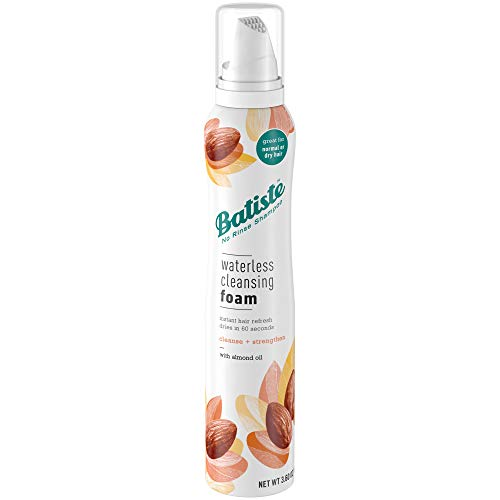 Batiste Waterless Cleansing Foam Cleanse and Strengthen with Almond Oil, 3.60 OZ