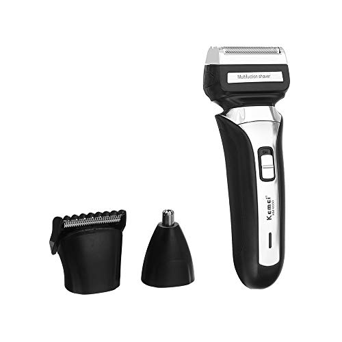KEMEI Electric Beard Shaver Razor Cordless Nose Hair Trimmer Professional Clipper Men Barber