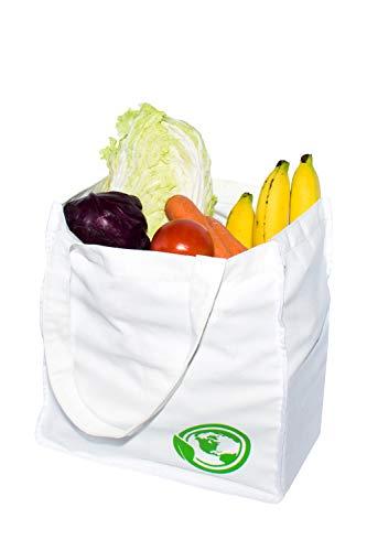 S.O.S Reusable Shopping Bags+ 4 pockets,Canvas Bag Shopping ToTe,Eco Friendly Tote Bag&Cloth Grocery Bags,Reusable Grocery Bags, Cloth Tote Shopping Bag, Cotton Canvas Bag,Reusable Canvas Tote - 1 Bag