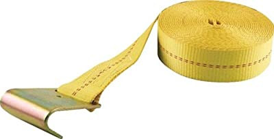 "Erickson 58600 Yellow 2"" x 30' Winch Strap with Flat Hook"