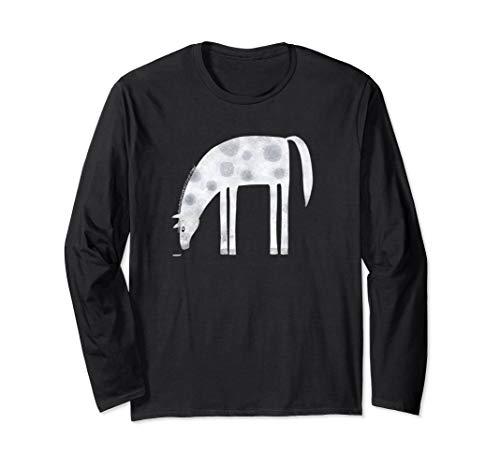 Dappled Horse Pet Art Illustration Long Sleeve T-Shirt