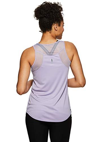 RBX Active Women's Racerback Yoga Workout Mesh Back Tank Top S.19 Purple XL