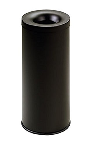 stilcasa Gettacarta Pattumiera autoestinguente nero-Litri 25 in Ferro - Dim. 25x25xh60 Stil Casa