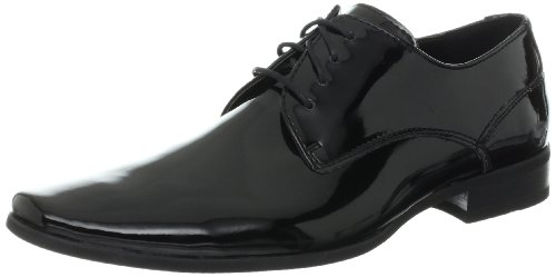 Calvin Klein Mens Brodie Patent Tuxedo Oxford, Black, 16 W US