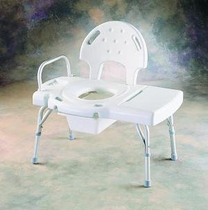INV9670C - Invacare Corporation I-Class Heavy-Duty Transfer Bench with Rail, Commode Opening and Pail (Invacare Heavy Duty Transfer)