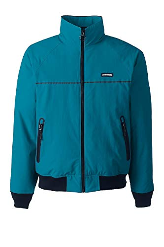 Lands' End Men's Big & Tall Classic Squall Jacket, M, Algiers Blue