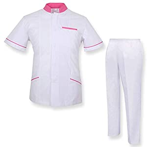 MISEMIYA Bata Laboratorio Y Pantalón Medical Uniform with Scrub Top and Pants Mujer 8