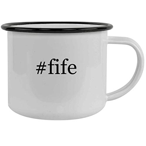 #fife - 12oz Hashtag Stainless Steel Camping Mug, Black
