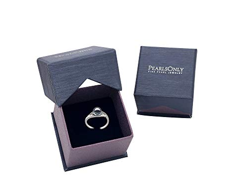 Tanya Black 6-7mm AAAA Quality Freshwater 14K White Gold Cultured Pearl Ring For Women - Size-7 by PearlsOnly (Image #5)