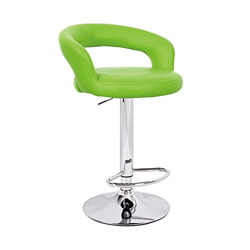 """Halo """"Leather"""" Contemporary Adjustable Barstool – Lime For Sale"""